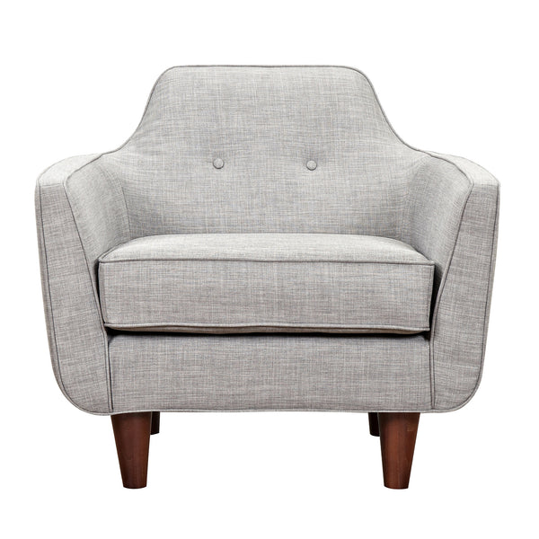 Aluminium Gray Agna Armchair - Walnut