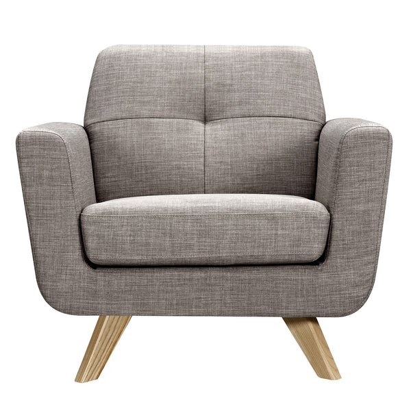 Aluminium Gray Dania Armchair - Natural