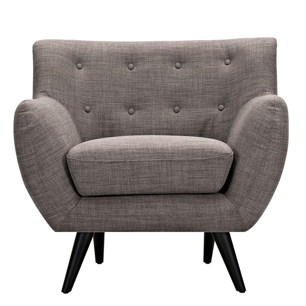 Aluminium Gray Ida Armchair - Black