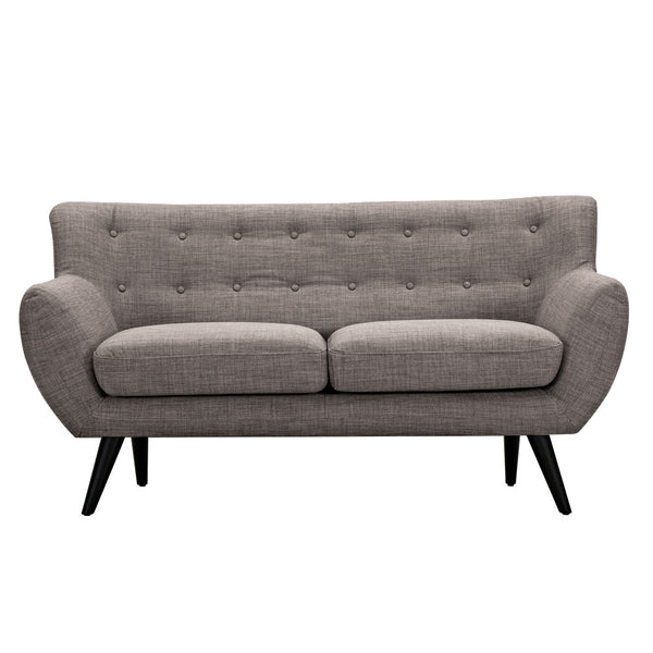 Aluminium Gray Ida Loveseat - Black
