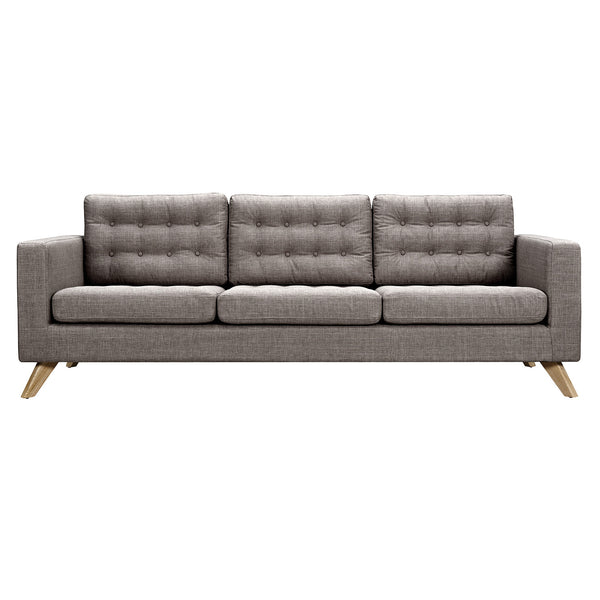 Aluminium Gray Mina Sofa - Natural