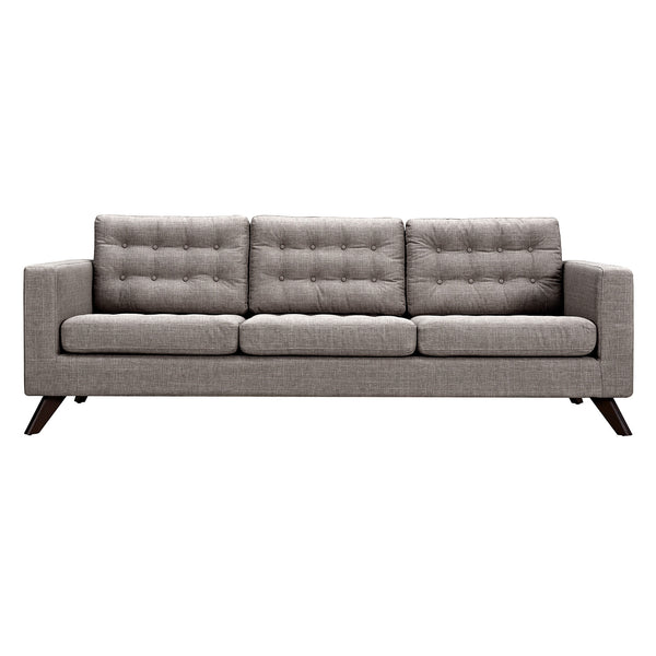 Aluminium Gray Mina Sofa - Walnut