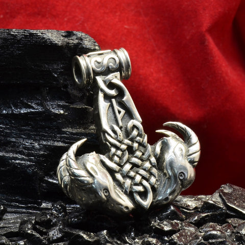 "Sterling Silver Thor's hammer pendant ""TANGNIOSTR"""
