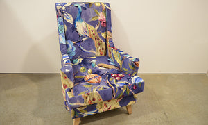Peacock Wingback Occasional Chair