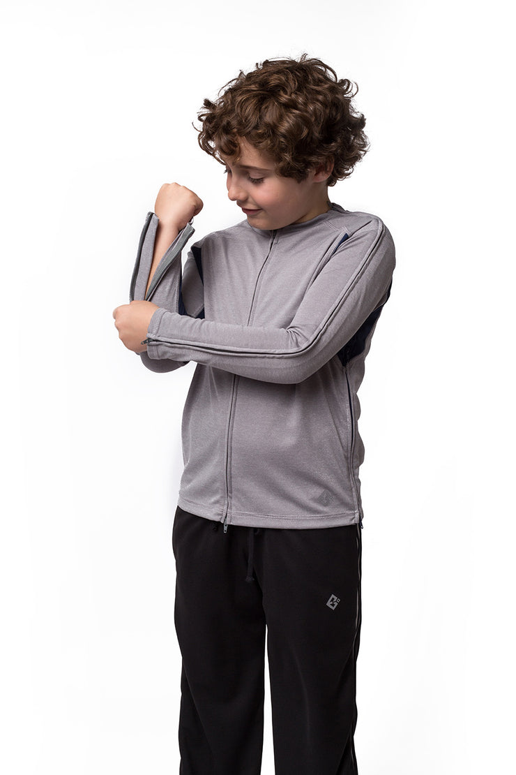 The Liam - Boy's Easy Dressing Adaptive Athletic Long Sleeve Top