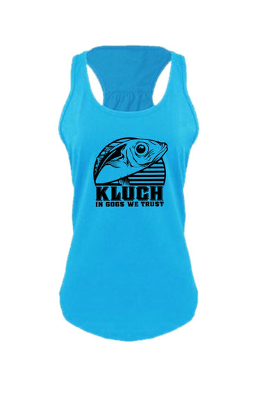 Kluch Womens Gog Gathered Racerback Tank Top