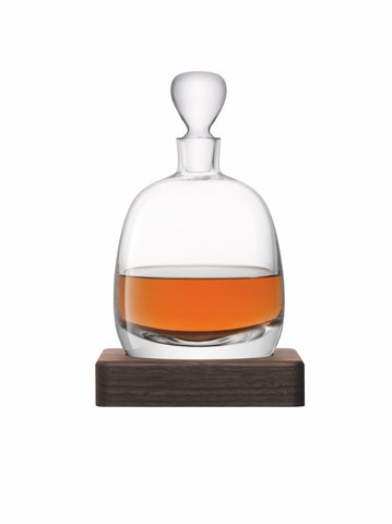 WHISKY - ISLAY DECANTER AND WALNUT BASE