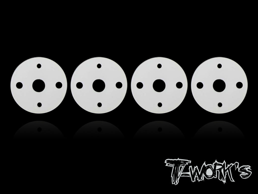 TE-092 Machined Twins Hole Shock Pistons 1.1x2+1.5x2 ( Team Associated, Team Losi , Kyosho 12mm Shock )