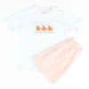 Smocked Pumpkin Boys Shirt & Short Set