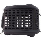Pet Life ® 'Circular Shelled' Perforated Lightweight Collapsible Military Grade Travel Pet Dog Carrier