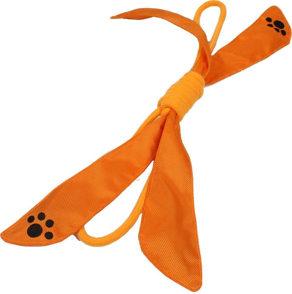 Pet Life ® 'Extreme Bow' Eco-Friendly Natural Jute Sporty Durable Squeak Tugging Pet Dog Rope Toy