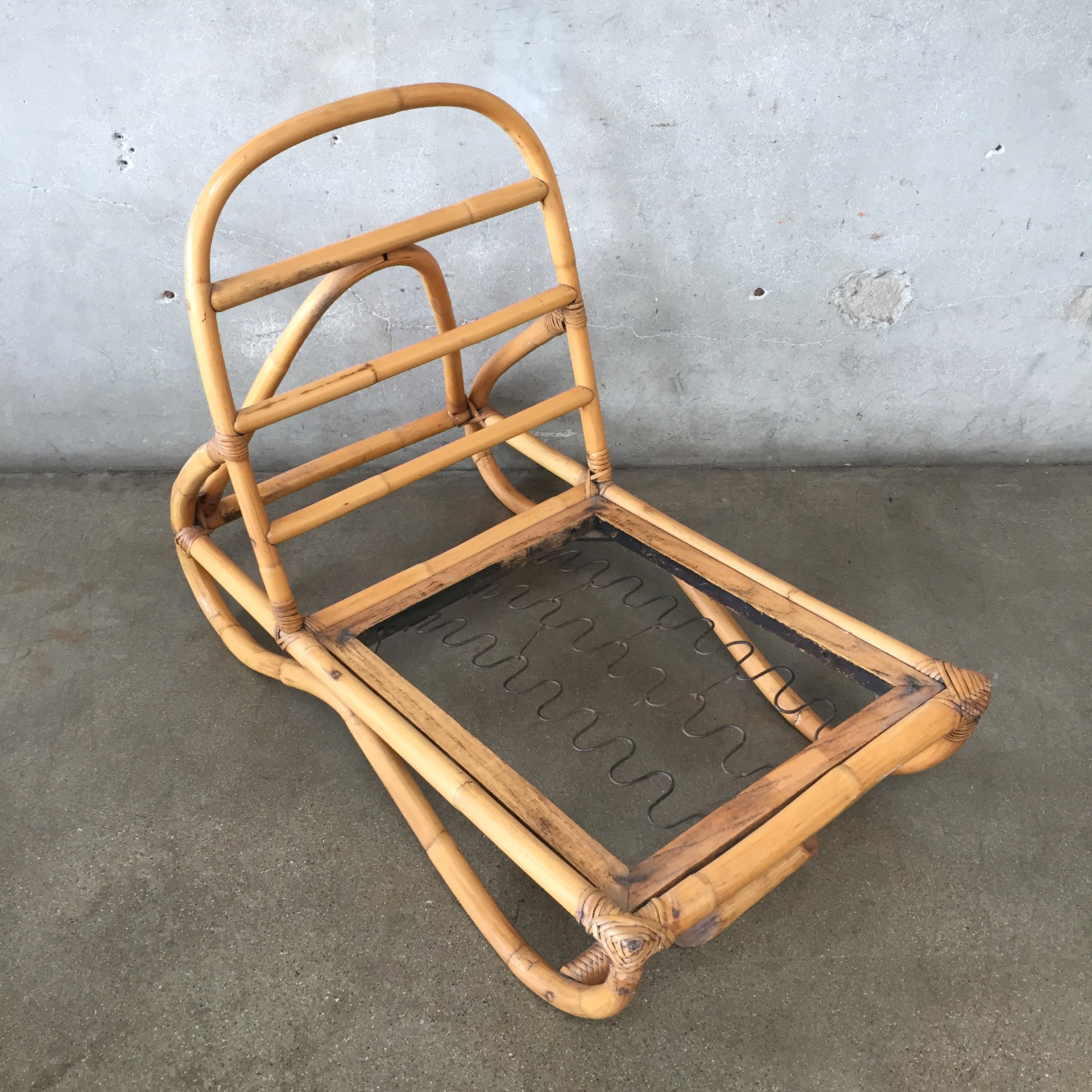 Vintage Arm Less Bamboo Chairs