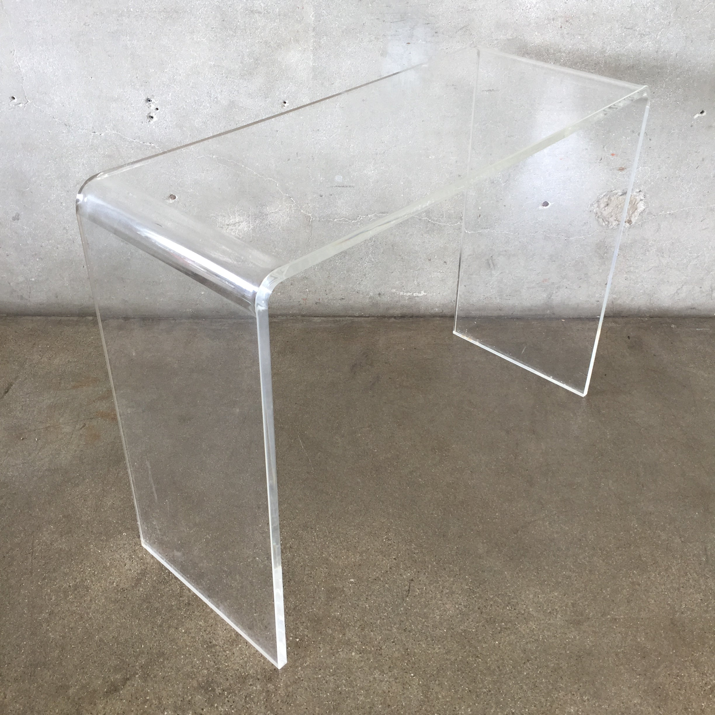 Vintage Lucite Console Table