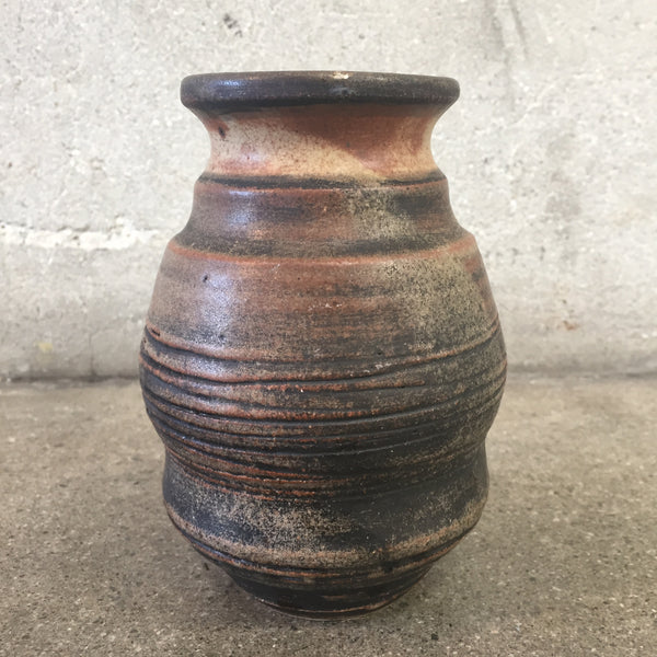 Hand Thrown Brown Pottery