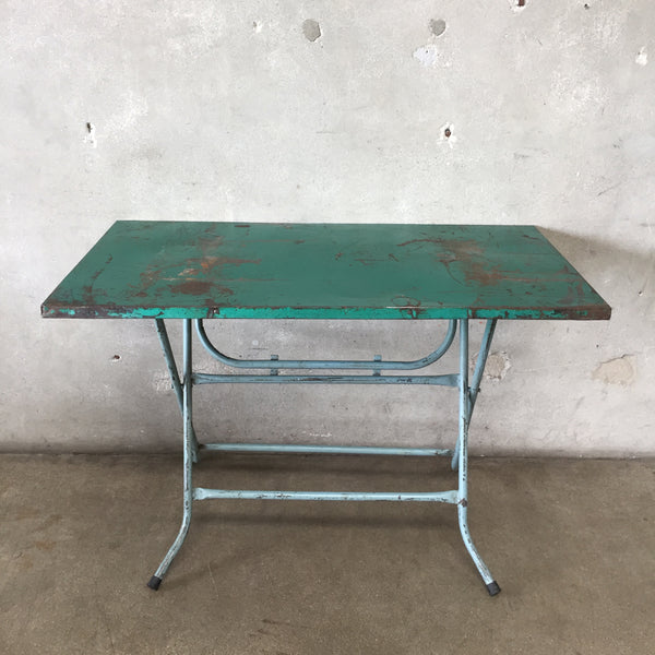 Vintage Euro Metal Folding Table