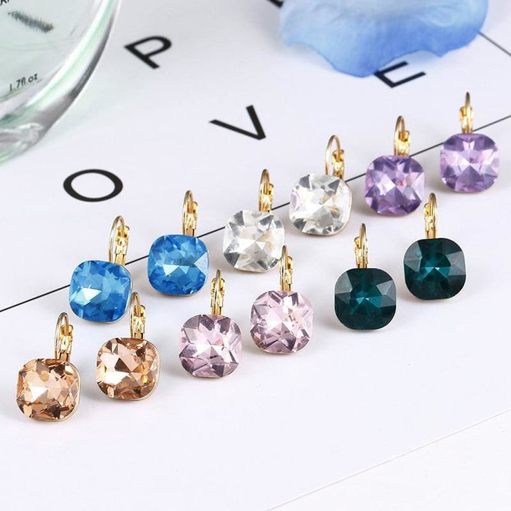 (Clearance) Fashion Crystal Earrings (6 Colors Available)