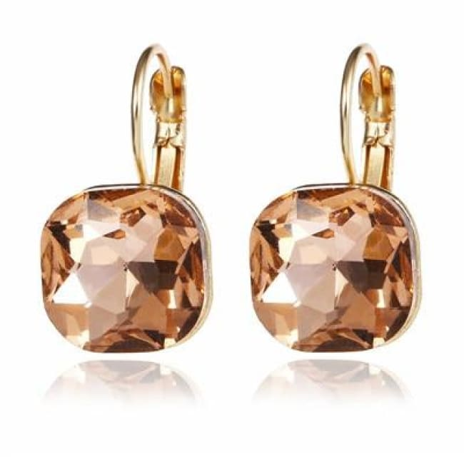 (Clearance) Fashion Crystal Earrings (6 Colors Available) - Xiangbinse