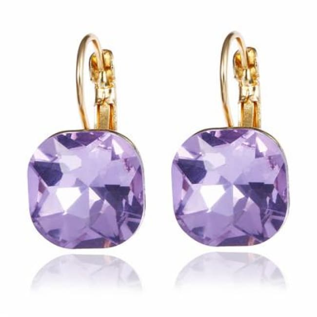(Clearance) Fashion Crystal Earrings (6 Colors Available) - Zise