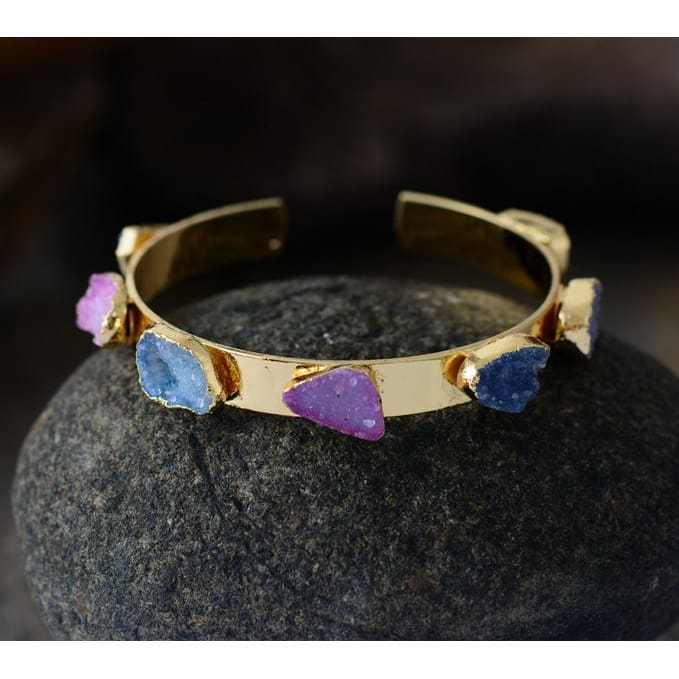Fashionable & Colorful Druzy Charm Bracelets