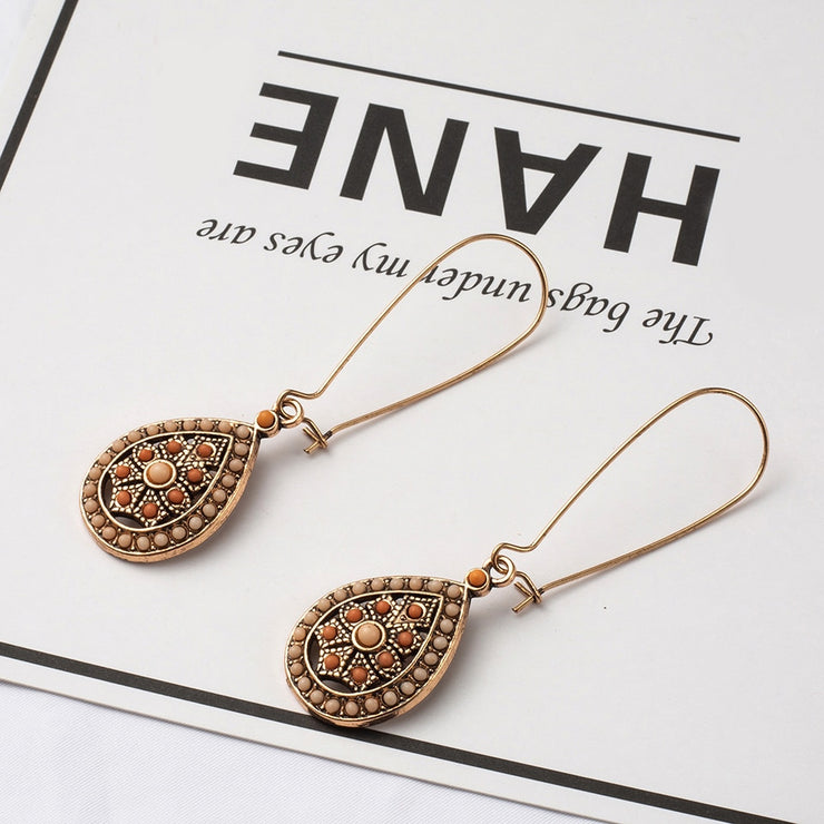 (CLEARANCE) Vintage Boho India Ethnic Water Drop Earrings