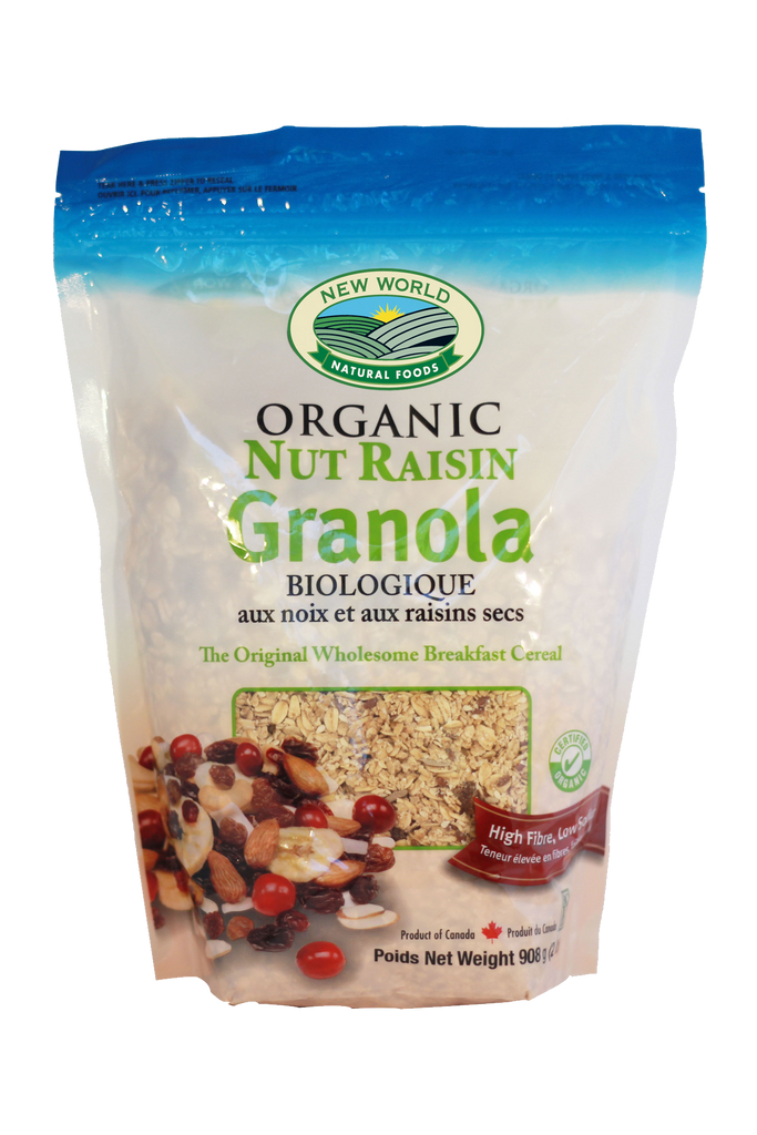 organic nut raisin granola