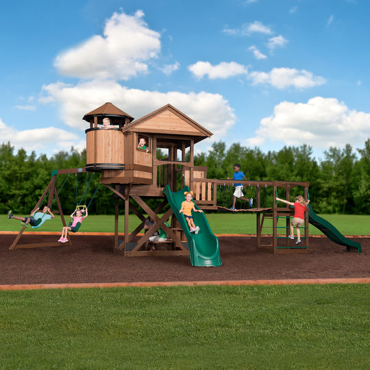 Backyard Discovery Playsets - Timber Cove Wooden Swing Set #main