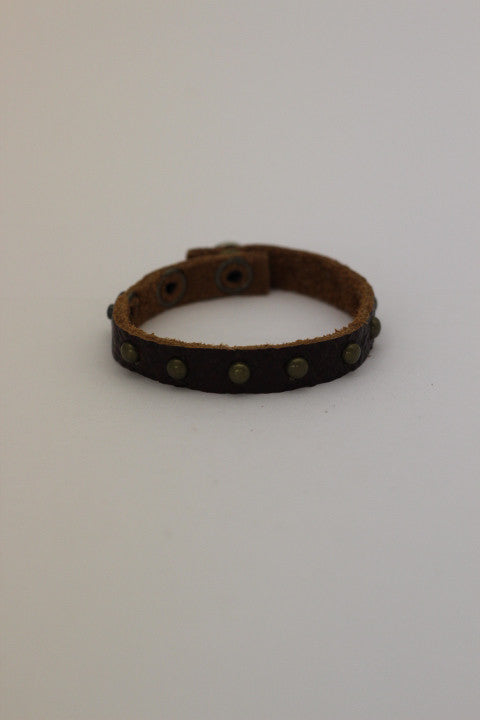 Studded Leather Layering Bracelet (2 Colors)