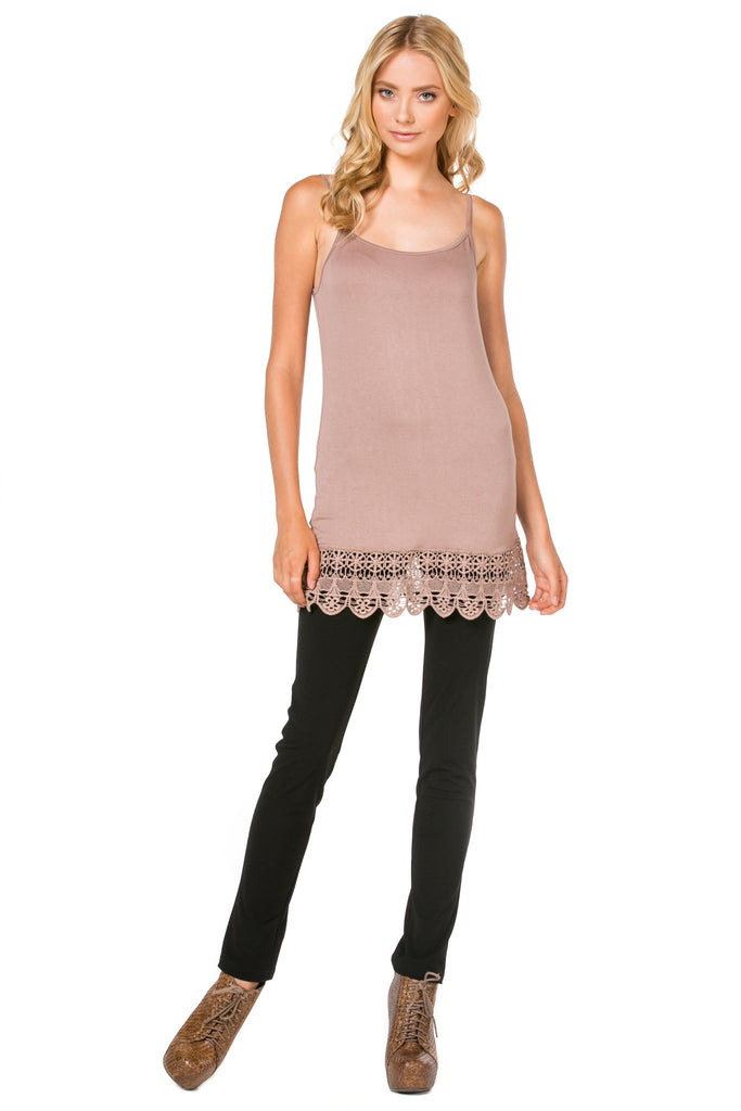 Cami & Crochet Hem Top Extender (4 Colors)