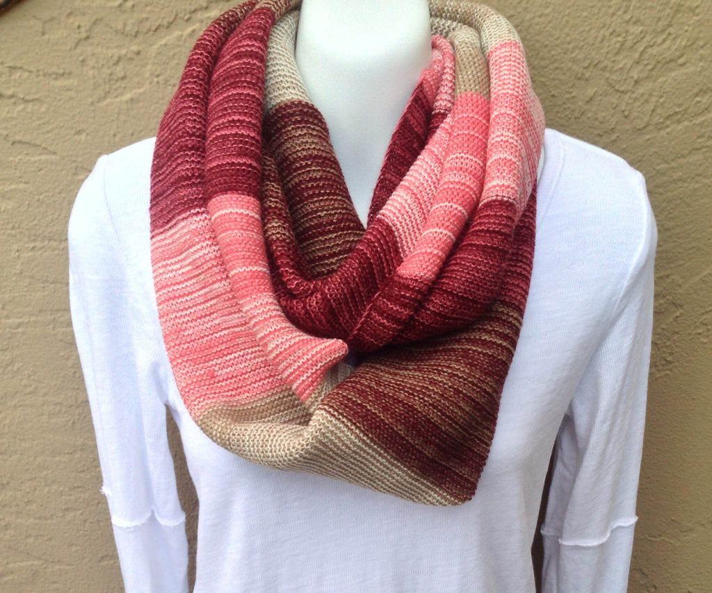 Color Block Knit Infinity Scarf (Pack of 2)