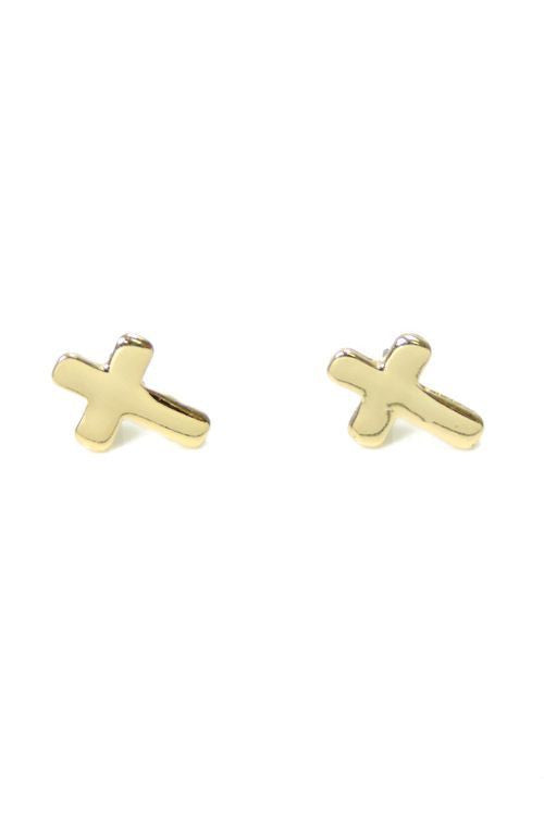 Cross Earrings (2 Colors Available)