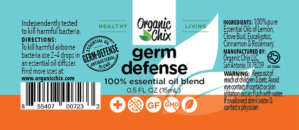 Organic Chix Germ-Defense Essential Oil Blend