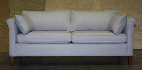 floor model smaller scaled Piper condo sofa from Endicott Home Furnishings in Portland Maine