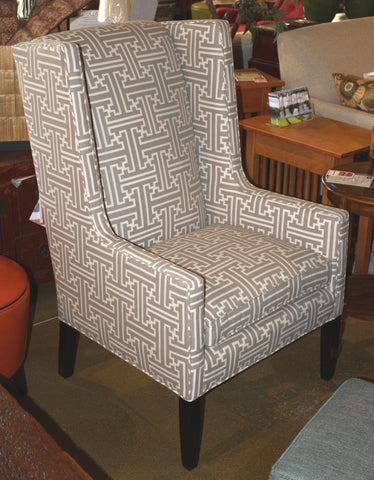 Arabella Modern Wingback Chair - Showroom Model