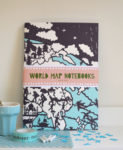 World Map Notebooks