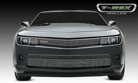 Camaro RS Grille Overlay 14-15 Chevrolet Camaro RS Aluminum Polished 1 Piece Billet Series T-REX Grilles
