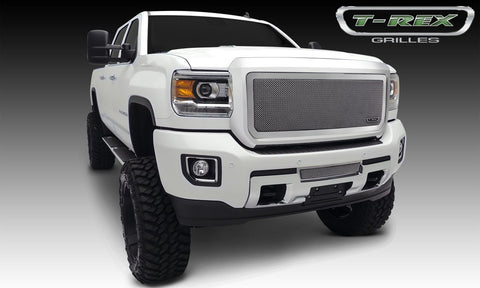 Sierra HD Grille 15-18 GMC Sierra HD Stainless Polished 1 Piece Upper Class Series T-REX Grilles
