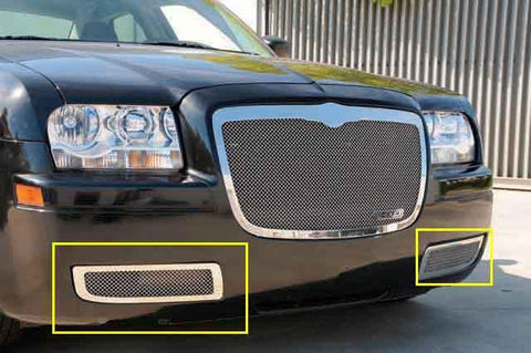 Chrysler 300 Bumper Grille 05-10 Chrysler 300 W/O Factory Fog Lights Stainless Polished Upper Class Series T-REX Grilles
