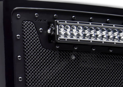 Sierra HD Grille 11-14 GMC Sierra HD W/Black Studs Mild Steel Powdercoat Black X Metal Series T-REX Grilles