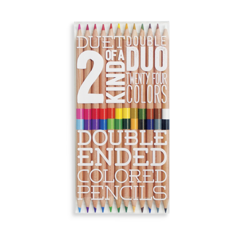 2  of a kind double ended coloured pencils