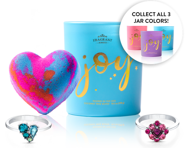 Choose Joy Ring Bath Bomb and Candle