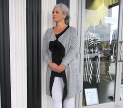 JACINDA JACKET GREY GLITTER
