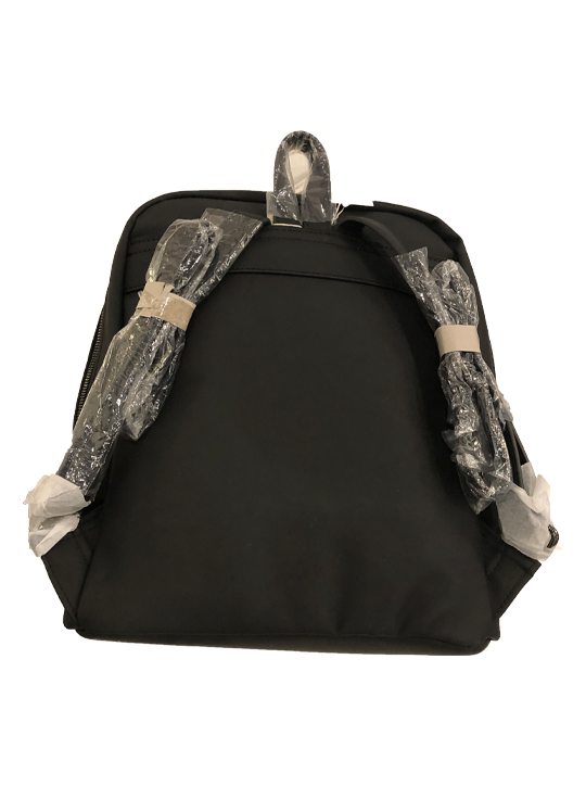 PATTERNED BACKPACK BLACK