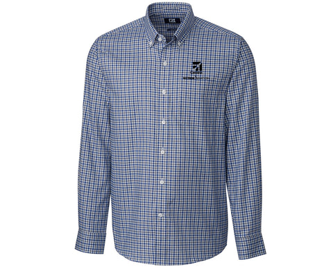 Cessna Mens Cutter & Buck Lakewood Check Woven
