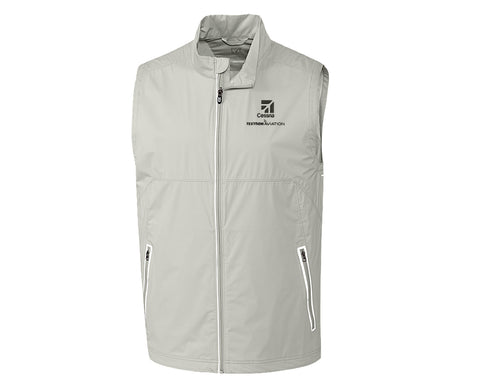 Cessna Mens Cutter & Buck Fairway Full-Zip Vest