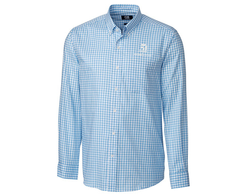 Cessna Mens Cutter & Buck League Gingham Woven