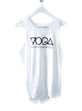 YOGA Breathe. Flow. Meditate tie up tank