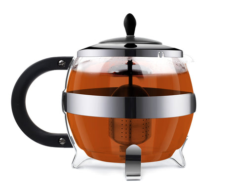 Vialli Design AMO Glass Teapot with Infuser 1.2L