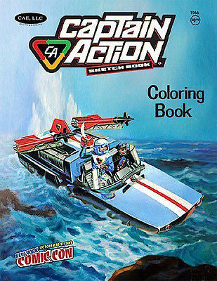 P074 NYCC 2013 NYCC Exclusive Captain Action Coloring Book Sketch Book New!