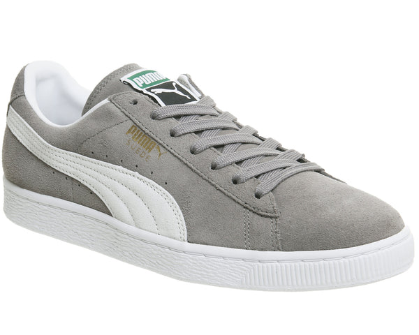 Unisex Puma Suede Classic Grey White Trainers