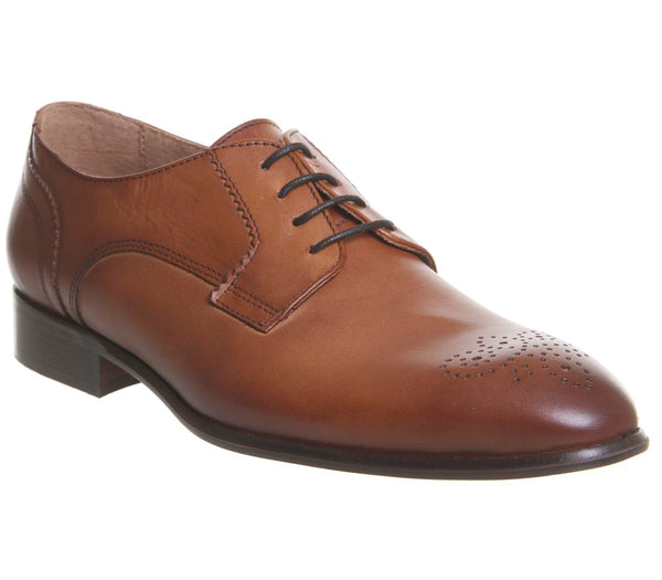 Mens Ask the Missus Hound Rose Brogues Tan Leather